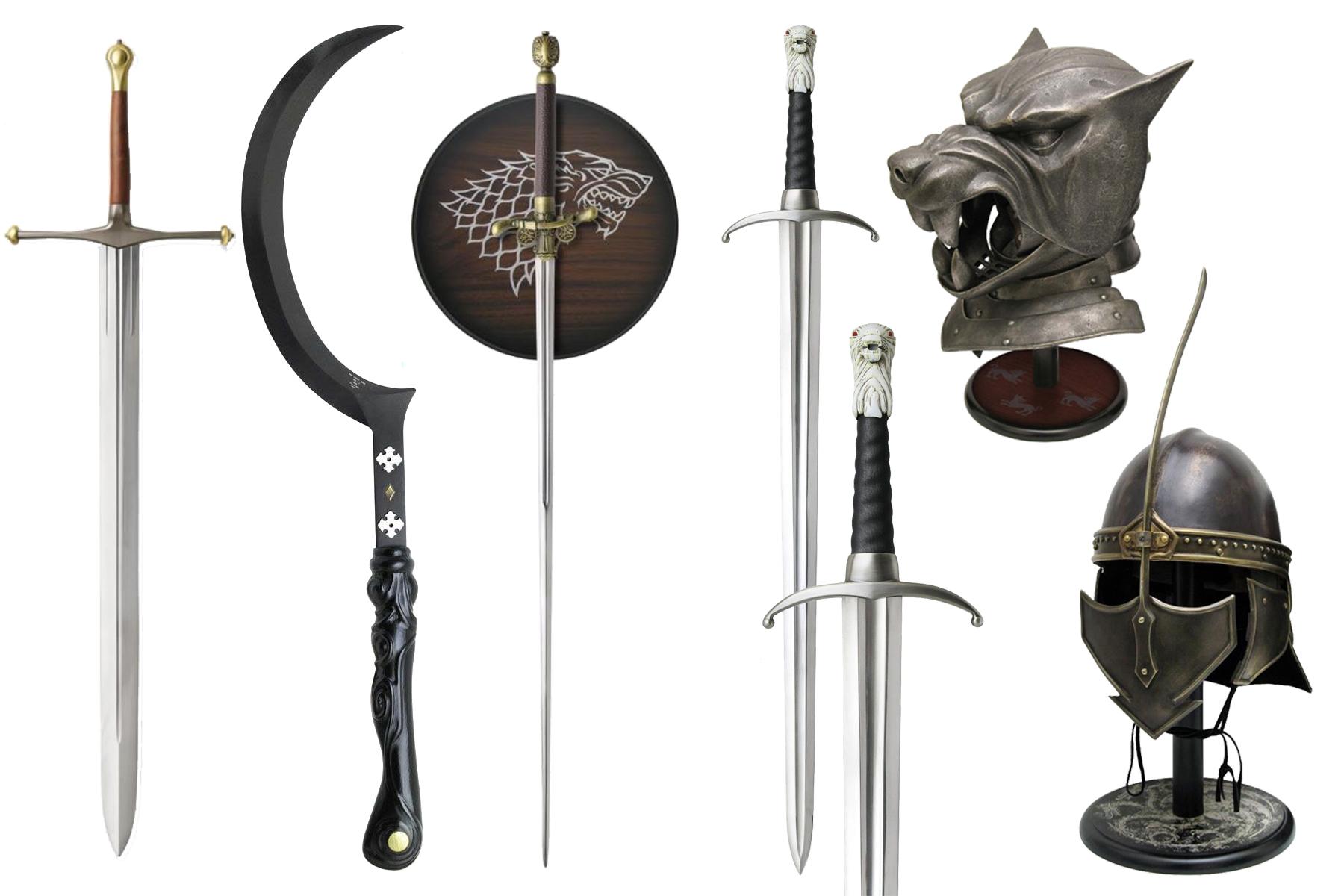 Espadas y yelmos de Juego de Tronos